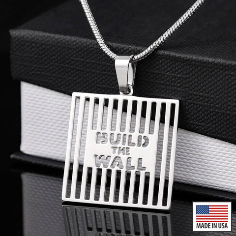 Image of Exclusive: Build The Wall White Gold Necklace