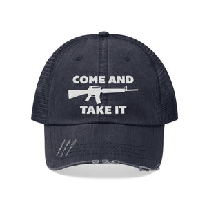 Come and Take It AR-15 Distressed Hat