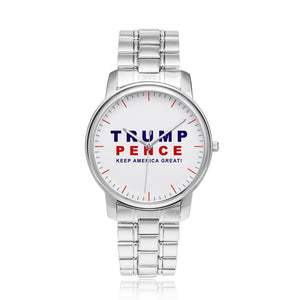 Limited Edition: Premium Trump Pence Stainless Steel Silver Watch