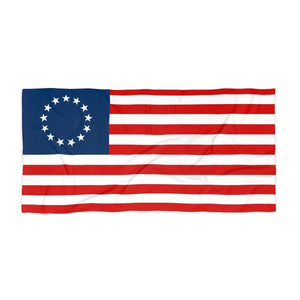 Betsy Ross American Flag Luxurious Beach Towel