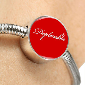 The Deplorable Luxury Bracelet and Charm