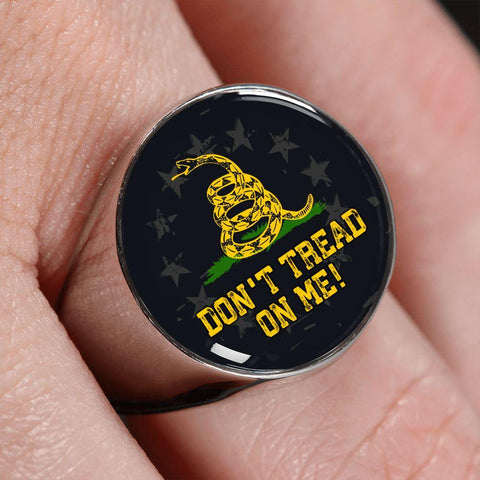 Don't Tread On Me Premium Ring
