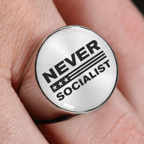Image of Never Socialist Luxury Ring