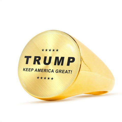 "Image of Trump ""Keep America Great"" Luxury Ring"