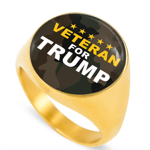 Veteran for Trump Luxury Ring