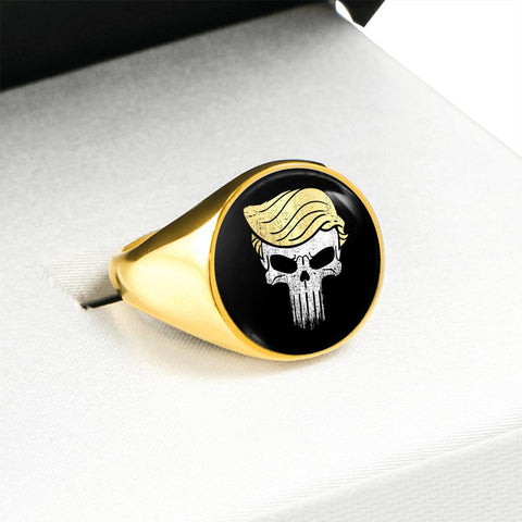 Image of The Trump Punisher Luxury Ring 18K Gold Finish