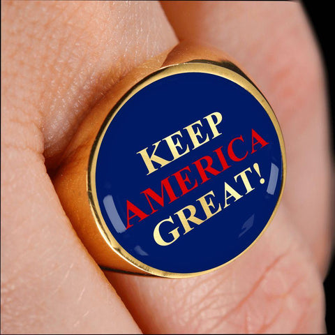 Keep America Great Luxury Ring
