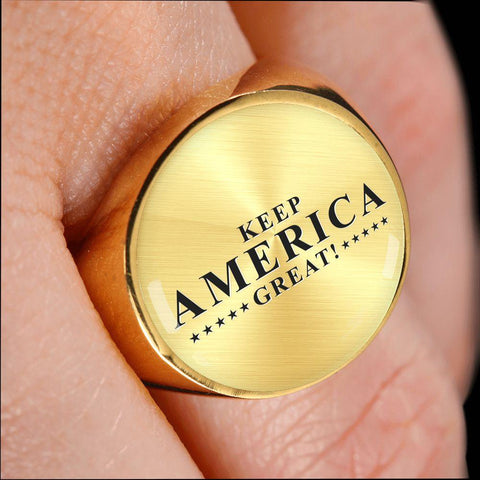 Image of Keep America Great! Premium Unisex Ring