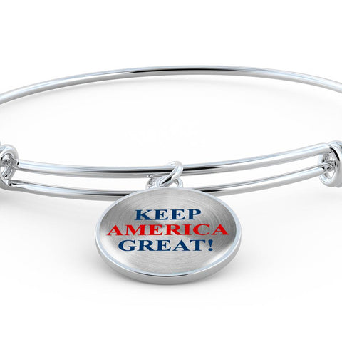 Image of Keep America Great Luxury Bangle Bracelet