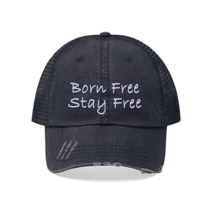 Born Free Stay Free Worn Look Hat