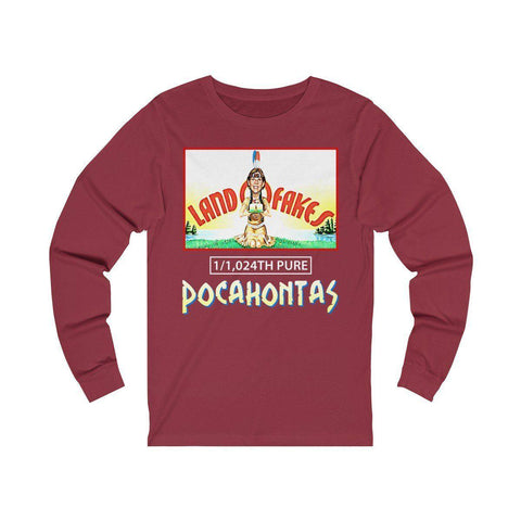 Image of Land O Fakes 1,024th Pure Pocahontas Long Sleeve Tee