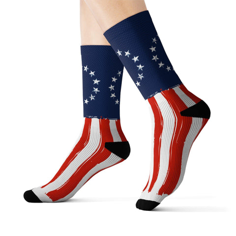Image of Betsy Ross American Flag Socks