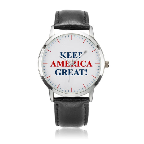 Classic Keep America Great! Premium Leather Watch