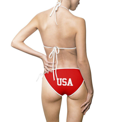 "American Flag & ""USA"" Bikini Swimsuit"