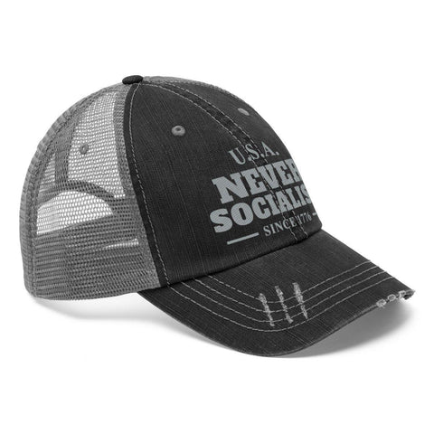 Image of U.S.A. Never Socialist Since 1776 Distressed Hat