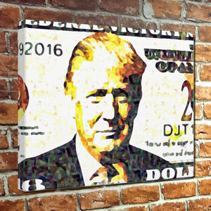 2016 Trump Dollars Muesum Canvas Wrap