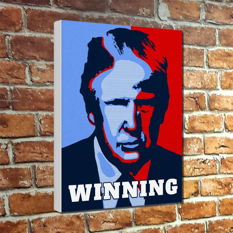 "Trump ""Winning"" Muesum Canvas Wrap"