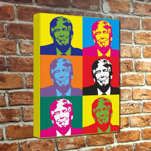 Trump Warhol Style Museum Canvas Print - Ready to hang!