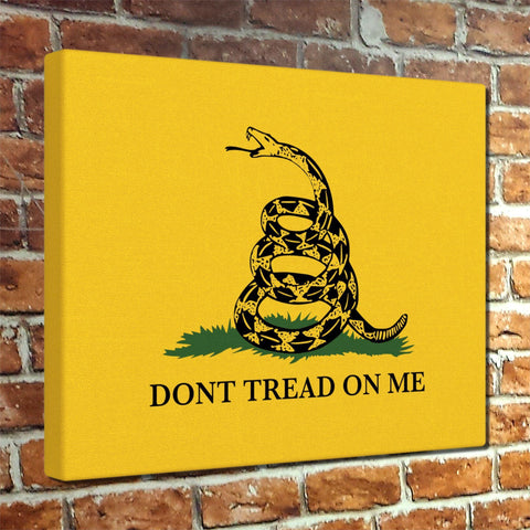 Don't Tread On Me Gadsden Flag Canvas Print
