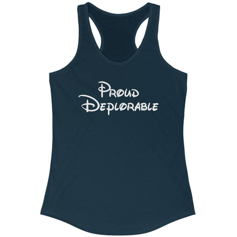 Image of Proud Deplorable Racerback Tank