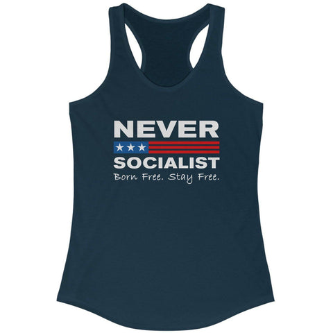 Image of Never Socialist Racerback Tank