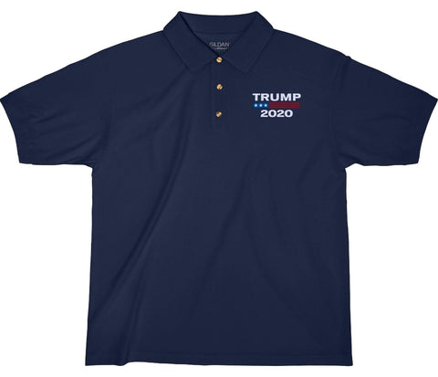 Trump 2020 Embroidered Jersey Polo Shirt