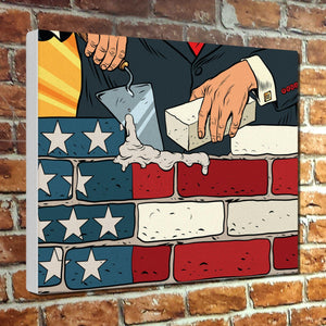 Build The American Wall Canvas Print - Ready to hang!
