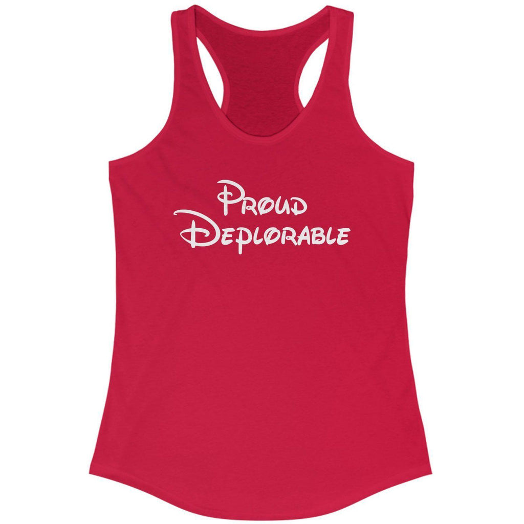 Proud Deplorable Racerback Tank