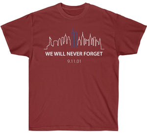 We Will Never Forget 9/11 Skyline Premium Shirt