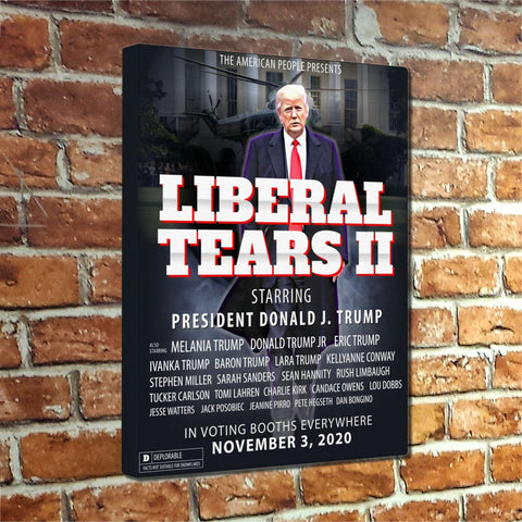 Liberal Tears II Movie Poster Canvas Wrap