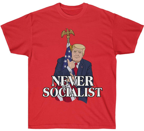 Image of Love The Flag - Never Socialist Premium Shirt