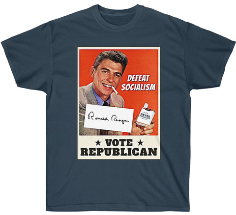 Image of Ronald Reagan: Defeat Socialism, Vote Republican Premium T Shirt