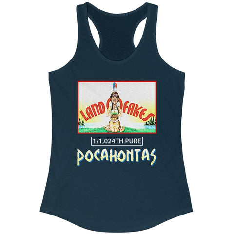 Image of Land O Fakes 1,024th Pure Pocahontas Racerback Tank
