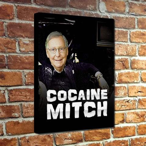 Cocaine Mitch Museum Canvas Wrap