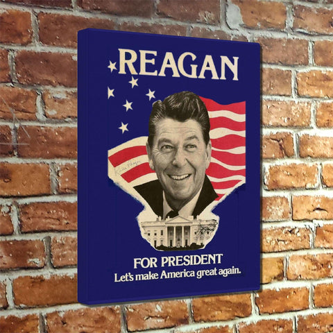 "Reagan ""Let's Make America Great Again"" 1980 Museum Canvas Wrap"