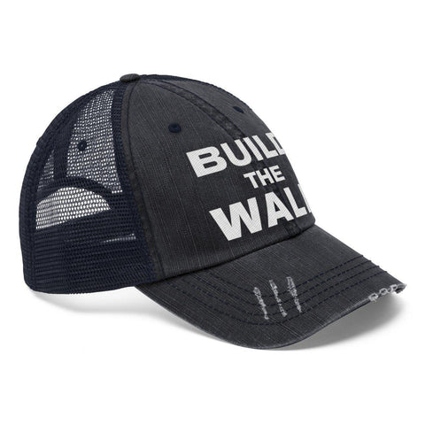 Image of Build The Wall Worn Look Trucker Hat