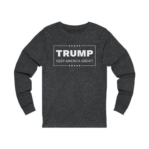 "Image of Trump ""Keep America Great! Long Sleeve Tee"