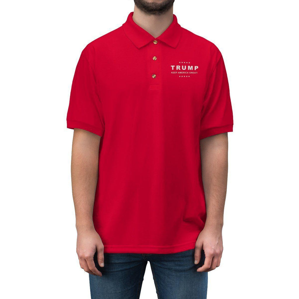Trump Keep America Great Embroidered Polo Shirt