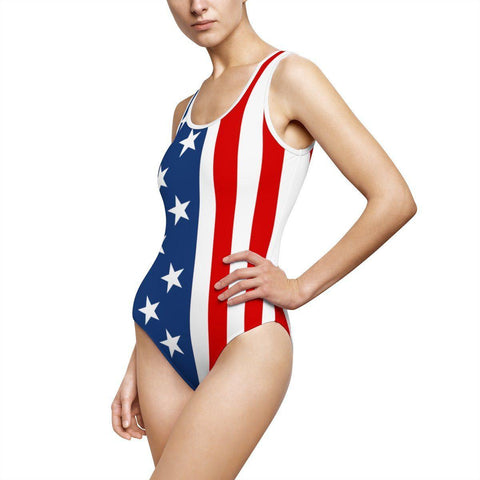 American Flag Patriotic One-Piece Swimsuits!