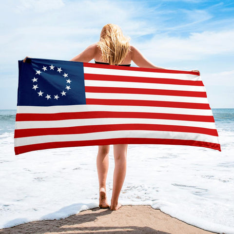 Betsy Ross American Flag Beach Towel