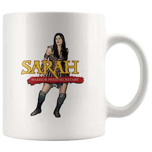 Sarah Warrior Press Secretary Slayer of Fake News Mug