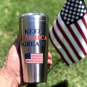 Keep America Great Stainless Viking Tumbler