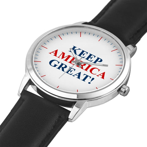Image of Classic Keep America Great! Premium Leather Watch