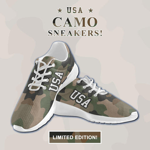 Image of USA Camo Sneakers