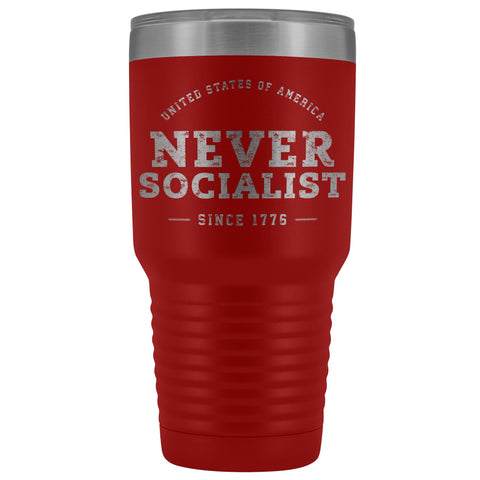 USA Never Socialist Since 1776 Laser Etched Tumbler