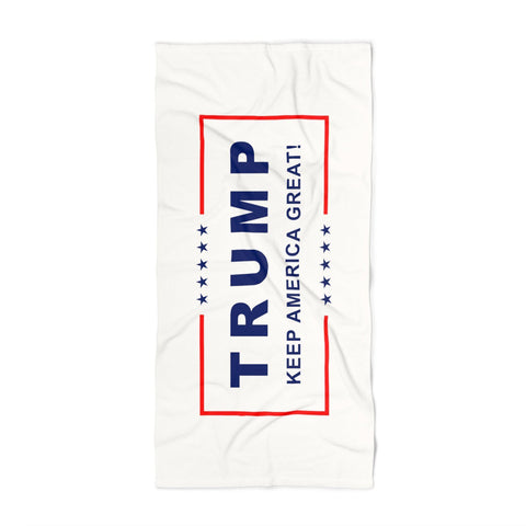 Trump Keep America Great Luxurious White Beach Towel