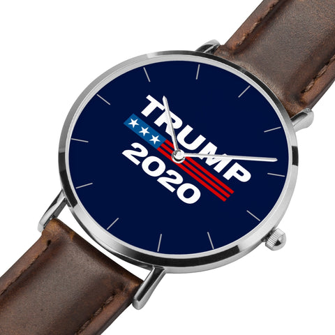 Image of Limited Edition: Trump 2020 Ultra Premium Leather & Stainless Collectors Watch ⭐⭐⭐⭐⭐