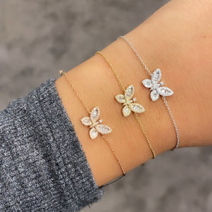 14K GOLD DIAMOND STORMI BUTTERFLY BRACELET