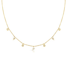 14K GOLD DIAMOND SERENA STAR NECKLACE