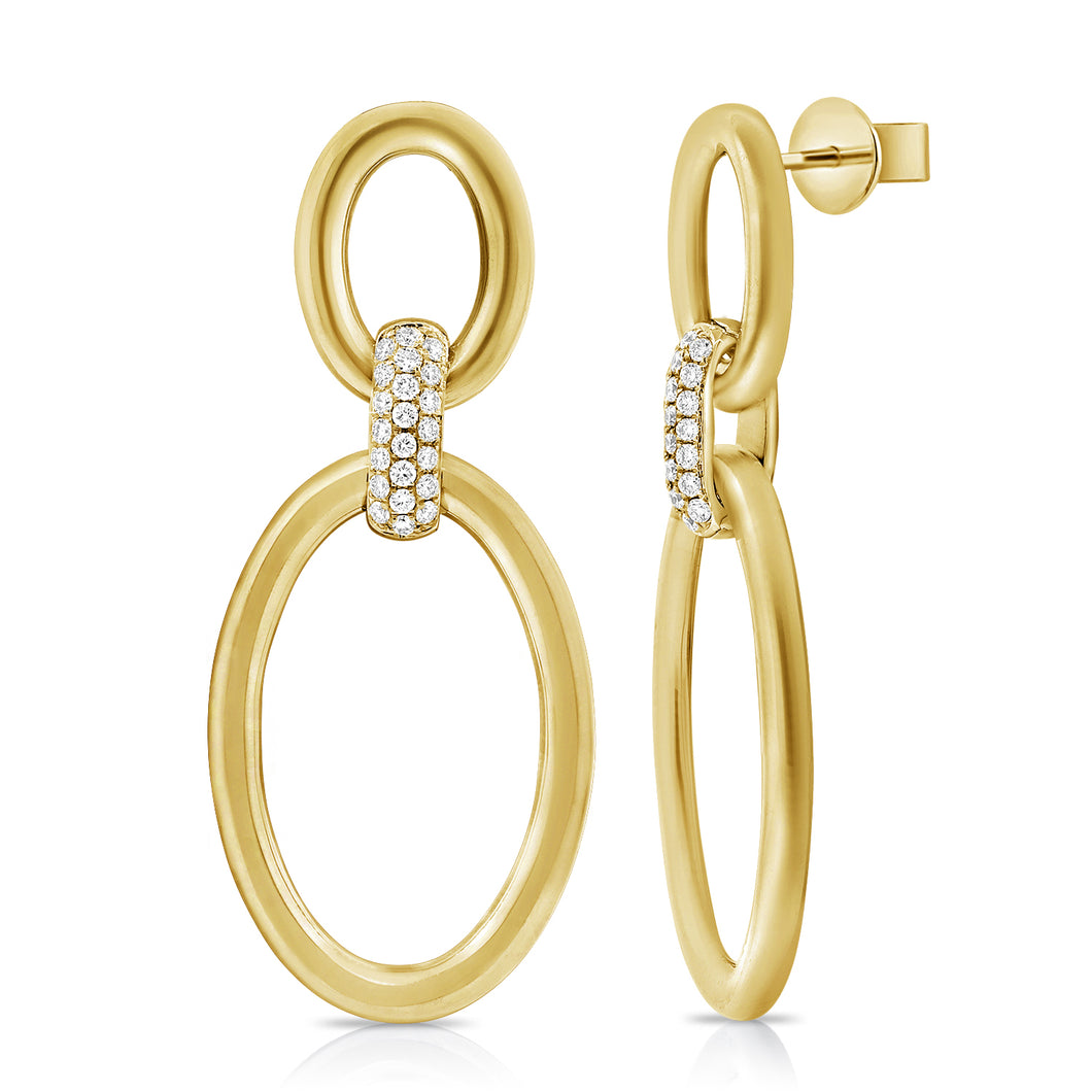 14K GOLD DIAMOND KYRA EARRINGS